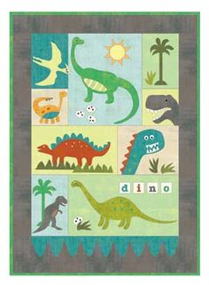 Dino Dig quilt pattern at Keepsake Quilting Cute Quilts, Boy Quilts, Applique Quilt Patterns, Keepsake Quilting, Cotton Quilting Fabric, Fabric Art, Twin Quilt, Quilt Kits, Quilting Designs
