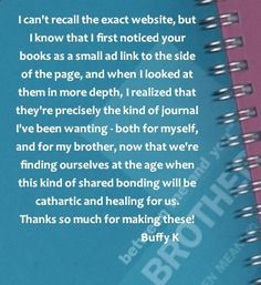 Between Me And You Brother journals. Give a journal to your brother and get back a truly personal keepsake filled with handwritten responses to cherish. This could be a unique opportunity for him to share his personal thoughts and feelings with you. Journal Sample, Relationship Problems, Thoughts And Feelings, No Response, Communication, Brother, Ads, Books, Libros