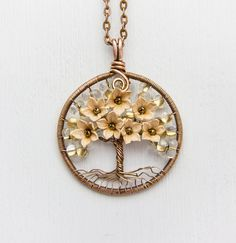 Tree-Of-Life Necklace Pendant 1.6 Copper Wire от JewelryFloren