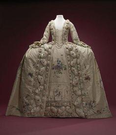 centraal museum gown | Onbekend, Robe a la française, 1740-1760, Amsterdam Museum