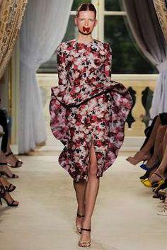 The Giambattista Valli Couture Fall 2012 Display Features Butterflies #fashion