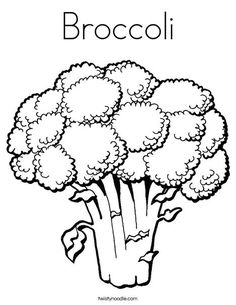 Broccoli Coloring Page From TwistyNoodle