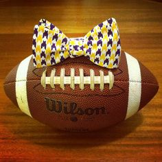 Collegiate Series --Purple and Gold Houndstooth Bow Tie