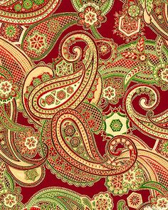 Holiday Flourish 5 - Paisley Ambrosia - Lacquer/Gold