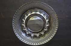 Vintage Pressed Hobnail Glass Ashtray or Trinket Dish by dsforster on Etsy