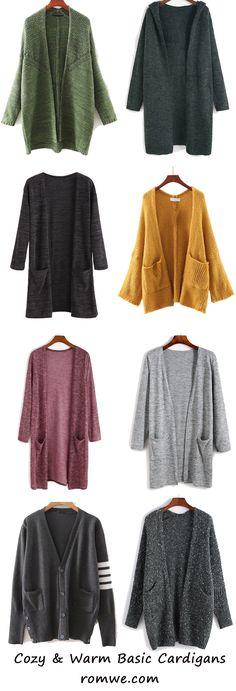 Warm & Cozy - Fall Basic Cardigans from romwe.com