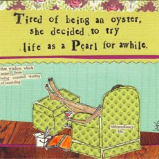 Life As A Pearl - Individual Card - Curly Girl Cards SQOY18 | Curly Girl Design