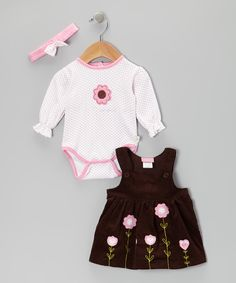 Pink Flower Ruffle Bodysuit Set | Daily deals for moms, babies and kids