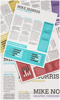 Newspaper CV - Miscellaneous Print Templates