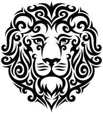 lion - could be a cute stencil for a tray or something