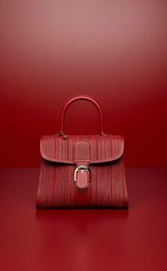 1fc4b268a Delvaux Rouge de Pourpre Toile de Cuir Brillant MM Bag Leather Craft,  Leather Bag,