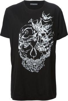 ALEXANDER MCQUEEN Black Skull Print Tshirt