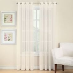 Voile Sheer Window Panels With Grommets - BedBathandBeyond.com