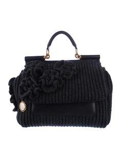 Dolce & Gabbana Knit Miss Sialy Satchel