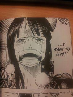 Nico robin wants to live. #onepiece #nicorobin #manga