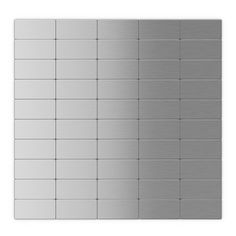 Stacked subway tile - stainless steel finish.  hmm