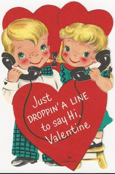 Just droppin' a line... vintage valentine