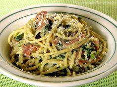 Lemon Pasta with Mascarpone, Prosciutto di Parma & Spinach by ~CinnamonGirl, via Flickr