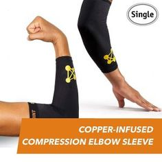 bd30f61f68 CopperJoint Copper-Infused Compression Elbow Sleeve, High-Performance  Design Promotes Proper Blood Flow to Help Improve Circulation and Support  Healing for ...