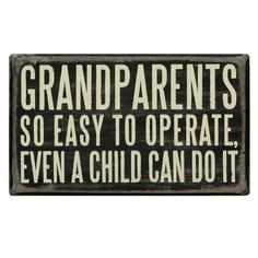 This is too cute... I know quite a few grandparents that this would pertain to...  :)