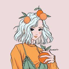 Kawaii Drawings, Art Drawings Sketches, Cute Drawings, Arte Do Kawaii, Kawaii Art, Cute Art Styles, Cartoon Art Styles, Arte Sketchbook, Cartoon Girl Drawing