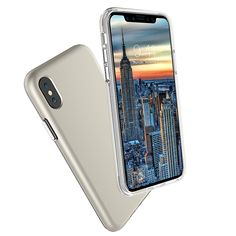 Ultra-thin Chrome Plated Buttons PC + TPU Case for Apple iPhone X - Gold