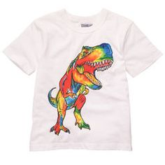 Dinosaur short sleeve techno color shirt. We love this shirt because it can be worn all year long. Offered on www.foryourboy.com