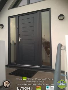 Anthracite Grey Solidor Timber Composite Doors Solidor Timber Composite Doors with Ultion Locks Solidor Timber Composite Doors 12 Months Interest Free Credit Real Pictures, Real Homes, Real Doors, Real Solidor a small selection of fitted Solidor Timber C Front Door Porch, Grey Front Doors, Porch Doors, Modern Front Door, Front Door Entrance, House Front Door, Front Door Design, Windows And Doors, Garage Design