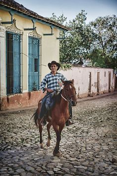 Cowboy in Trinidad Cuba, my husband's grandfather was a cowboy in Cuba and his father was cavalry sharpshooter