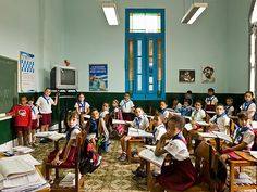 Quiet at the back: classrooms around the world – in pictures