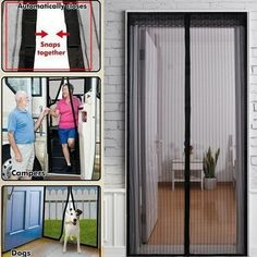 Mosquito Door Net Mesh écran Bug Fly Pet Patio mains libres Magnétique Magic Closer