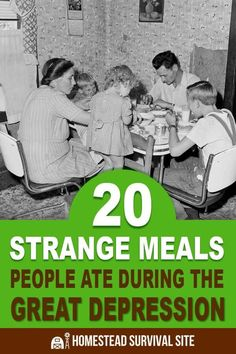20 Strange Meals People Ate During the Great Depression is part of Depression era recipes - The great depression brought out the resiliency and ingenuity of millions of people With few options, people had to make do with what was on hand Survival Food, Homestead Survival, Survival Prepping, Survival Skills, Survival Quotes, Emergency Preparedness, Homestead Farm, Emergency Supplies, Urban Survival