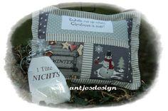 Geschenkverpackungen - Weihnachtsmuffel - Geld Geschenk - Kissen Landhaus - ein Designerstück von antjesdesign bei DaWanda