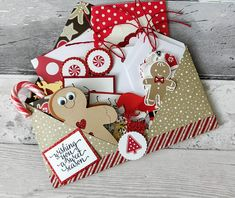 Large Christmas Festive Pocket Envelope with Die Cut Shapes, Embellishments, Tags & Clips Christmas Envelopes, Christmas Gingerbread, Christmas Gift Tags, Handmade Christmas, Christmas Crafts, Christmas Letters, Xmas, Christmas Tables, Nordic Christmas