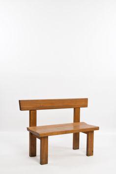Pierre Chapo; Wooden Bench, c1965.