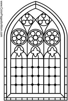 stained glass coloring page 10