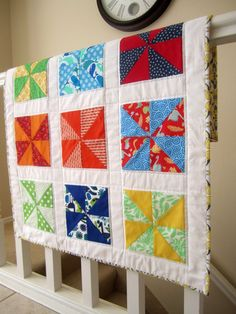 Hey, I found this really awesome Etsy listing at https://www.etsy.com/listing/92154997/pinwheel-baby-quilt
