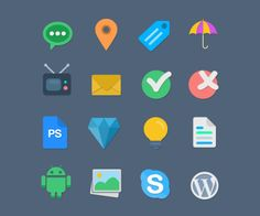 Free Flat web Icon set
