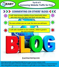 Increase website traffic by commenting on others blog.