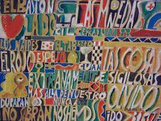"Edwin Studer (Taller Torres García) ""Constructivo Borges"" Óleo sobre papel entelado 53 X 70 cms. Año 1992  http://www.portondesanpedro.com/ver-producto.php?id=9146"