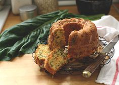 Savoury Cake with Cottage Cheese, Chard and Half Dried Tomatoes Recipe | foodand.co.uk