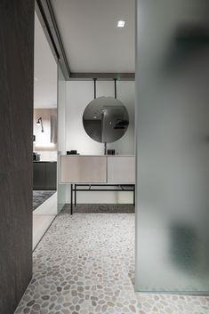 Ston Hydre Pietra bathroomfloors on room called Tunturipuro. Hotel Interiors, Unique Lighting, Carrara, Boutique, Luxury, Projects, Room, Furniture, Hotels