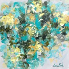"""Artist: Emma Bell Dimensions: 20""""x20""""x1.5"""" Original Floral Medium: Acrylic Surface: Textured, deep edge gallery wrapped canvas with edges painted to match For more information email us at christenberr"""