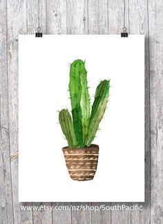 Pin By Klaudia Lewandowska On Hajs | Pinterest | Watercolor, Cactus Drawing  And Paintings