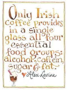 Irish Coffee - Love the Irish in me! I Love Coffee, My Coffee, Coffee Club, Coffee Break, Coffee Time, Susan Branch Blog, Celtic, Irish Quotes, Irish Sayings