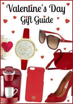 Valentine's Day Gift Guide - Pink Gifts for ultra feminine ladies and Red Gifts for the classic woman. http://www.styledecordeals.com/2017/02/valentines-day-gift-guide-2017.html