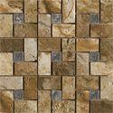 Marazzi Archaeology Chaco Canyon Pinwheel Glass Insert Mosaic x Glazed Porcelain Tile Flooring Mosaic Glass, Mosaic Tiles, Wall Tiles, Flooring Liquidators, Marazzi Tile, Master Bath Tile, Best Floor Tiles, Shower Floor, Stone Work