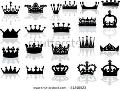 Vector crown creative silhouettes set Free vector in Encapsulated PostScript eps ( .eps ) vector illustration graphic art design format format for free download 347.34KB. Vector Silhouettes, crown, silhouettes