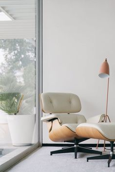 Check Out The Eames Lounge Chair Replica In White From Manhattan Home  Design. This Classic Lounge Chair And Ottoman Looks Beautiful In White  Leather.