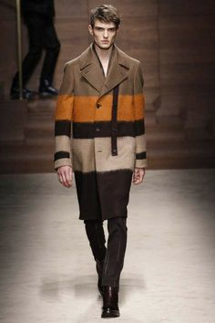 Salvatore Ferragamo | Fall 2014 Menswear Collection | SInteresting combination of fabrics